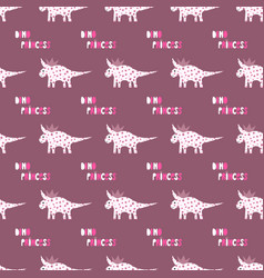 cute dinosaurs with crowns seamless pattern on the vector image