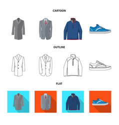 Design of man and clothing icon collection vector