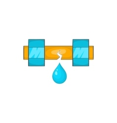 Dripping water pipe icon cartoon style vector
