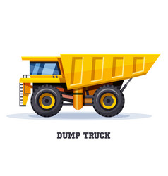 dump truck tipper dumper haul industry machine vector image