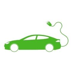 Electro car green icon vector