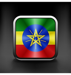Ethiopia icon flag national travel icon country vector