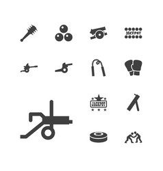 Fight icons vector