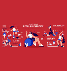 Fitness infographic banner vector