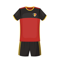 form of the belgian football teamthe dark belgian vector image