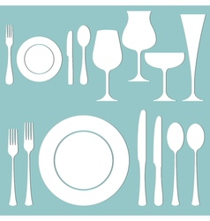 Formal dinner vector image