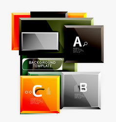 geometrical design squares abstract banner glossy vector image