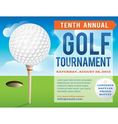 Golf tournament invitation design vector