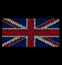 Great britain flag collage of musical note icons vector