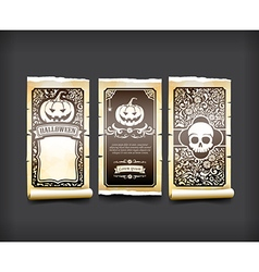 Halloween card classic and vintage style design vector