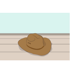 hat lies on the floor vector image