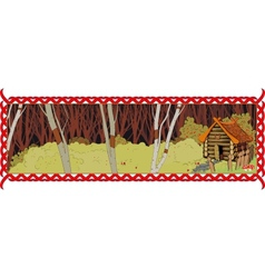 house in the fairy forest vector image