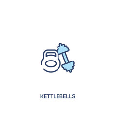 Kettlebells concept 2 colored icon simple line vector
