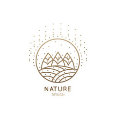 Logo fields and forest vector