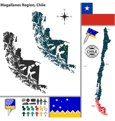 Map of Magallanes vector
