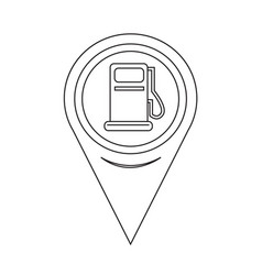 map pointer gas pump icon vector image