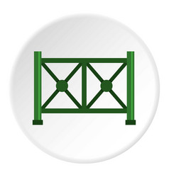 Metal fence icon circle vector