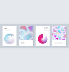 minimal brochure templates with dynamic fluid vector image