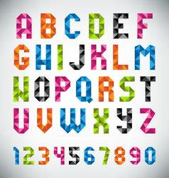 Mosaic Font vector image