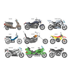 motorcycle motorbike or chopper and vector image