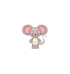 mouse cartoon icon vector image