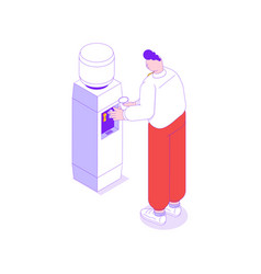 Office cooler icon vector