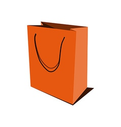Orange paper bag vector image