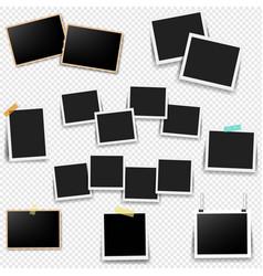 photo frame set with transparent background vector image
