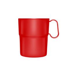 plastic mug in vector image