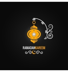 ramadan lantern design background vector image