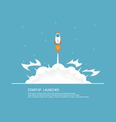 rocket launcher business startup concept vector image