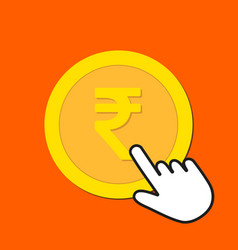 rupee currency icon exchange buying currency vector image