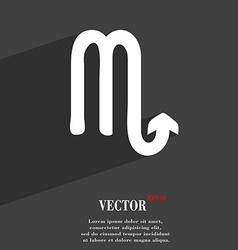Scorpio symbol Flat modern web design with long vector