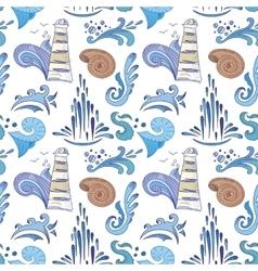 Sea Sketch Pattern vector image