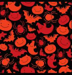 Seamless pattern halloween vector