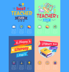 Series of posters teachers day vector