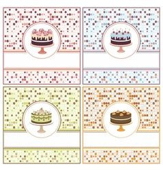 Set of cake cards vector image