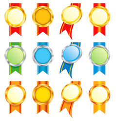 set of medals vector image