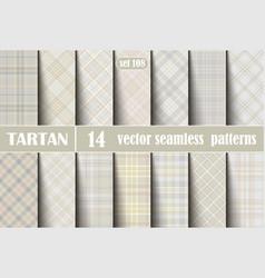 set pastel tartan seamless pattern vector image