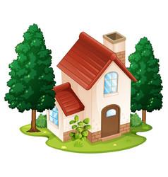 Single house on the island vector