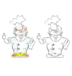 smiley cook vector image