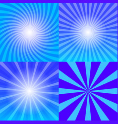 Sunray background set vector
