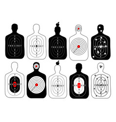 Target range shoot human set vector