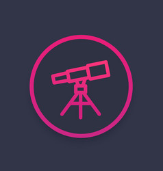 Telescope astronomy icon vector
