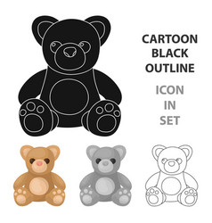 toys donation icon in cartoon style isolated on vector image