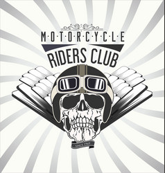 vintage motorcycle background 4 vector image