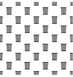 Wastepaper basket pattern vector
