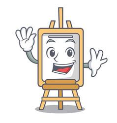 waving easel character cartoon style vector image
