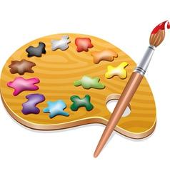 wooden art palette vector image