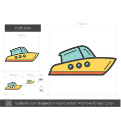 Yacht line icon vector
